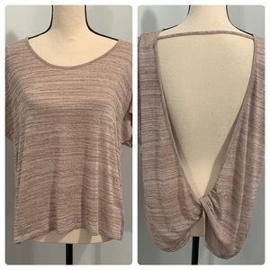 Express top with open twist knot back medium NWT
